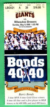 Ticket Stub 5-9-99 First Bobblehead Game