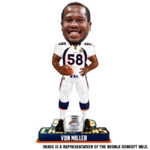Von Miller Denver Broncos Bobblehead