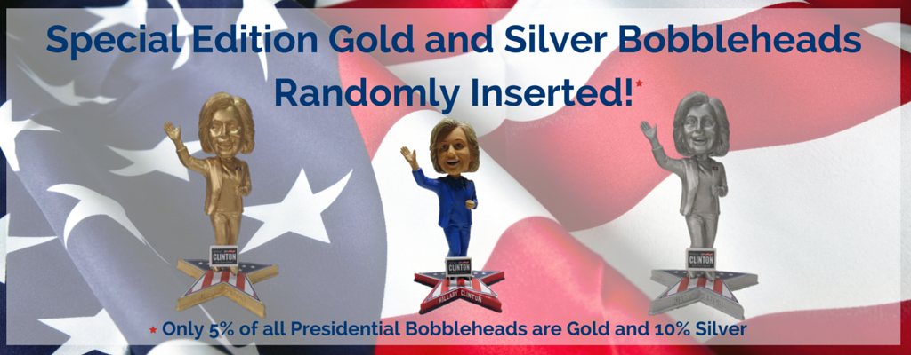 Special Edition Gold and Silver Bobblheads